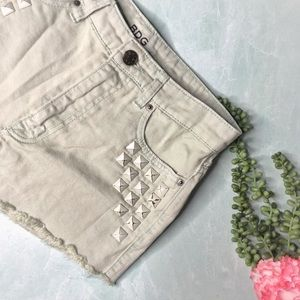 UO BDG High Rise Dree Jean Shorts Studded Green